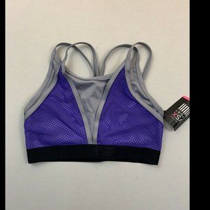Victoria's Secret Purple Grey Show Off Sports Bra